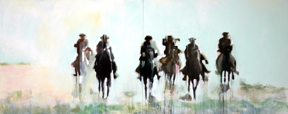 Cowboys-In-The-Dust-304x121cm-10x4ft-Oil-On-Canvas-920x364