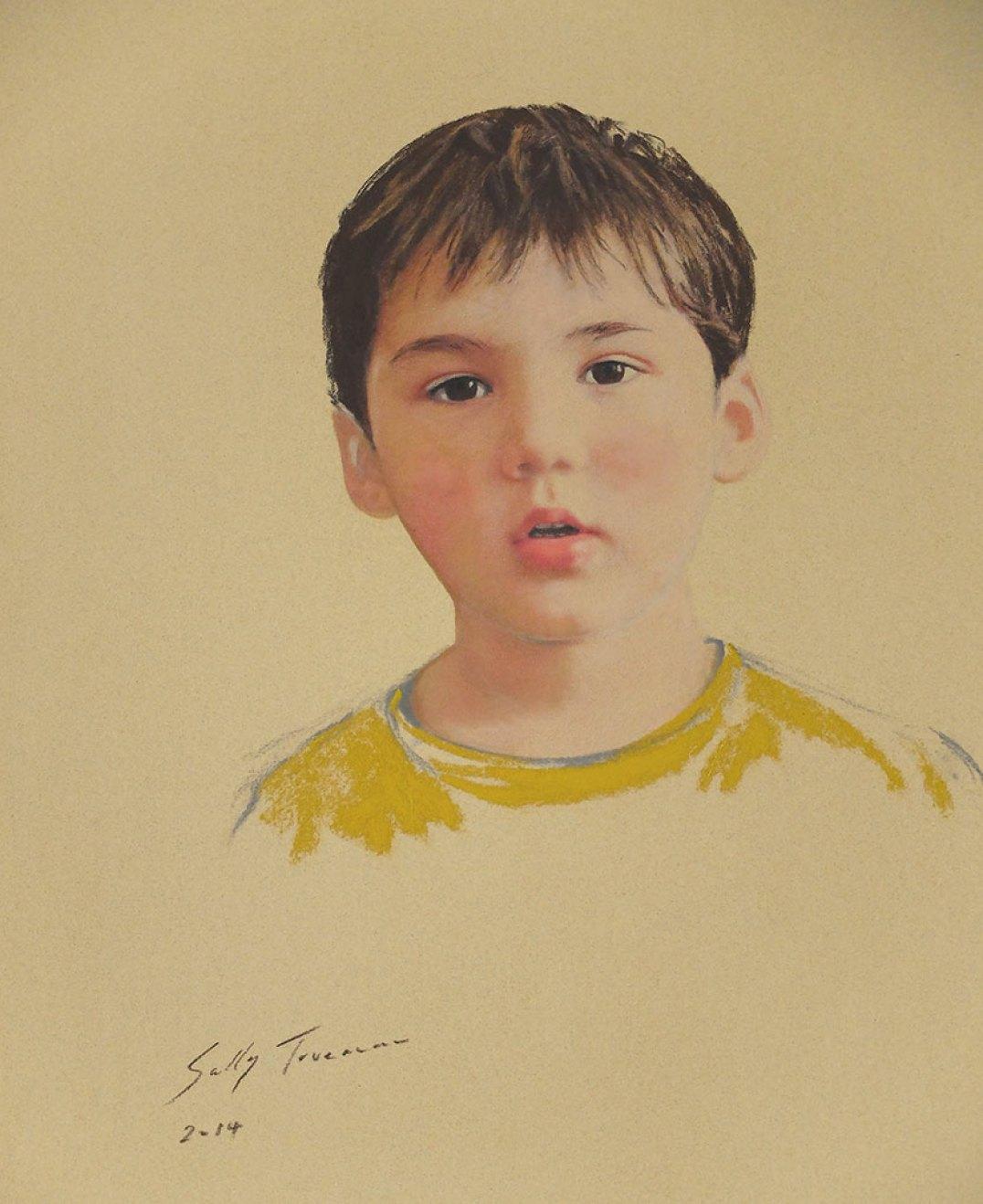 Sally-Trueman-Boy-in-Yellow-pastel