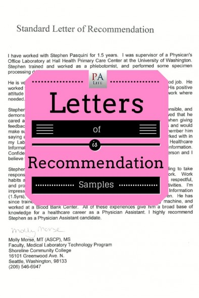 Nursing Recommendation Letter Sample