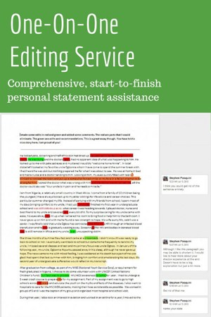 help writing a personal statement