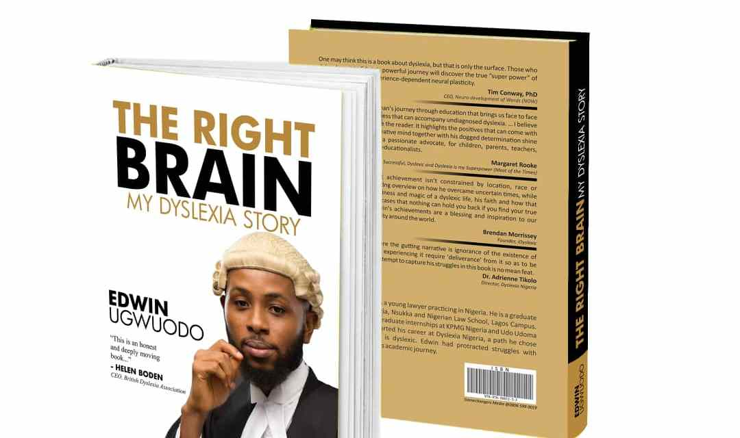 Edwin Ugwuodo Launches His Authorship: The Right Brain, My Dyslexia Story