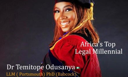 Dr Temitope Omotola Odusanya: Africa's Legal Millennial