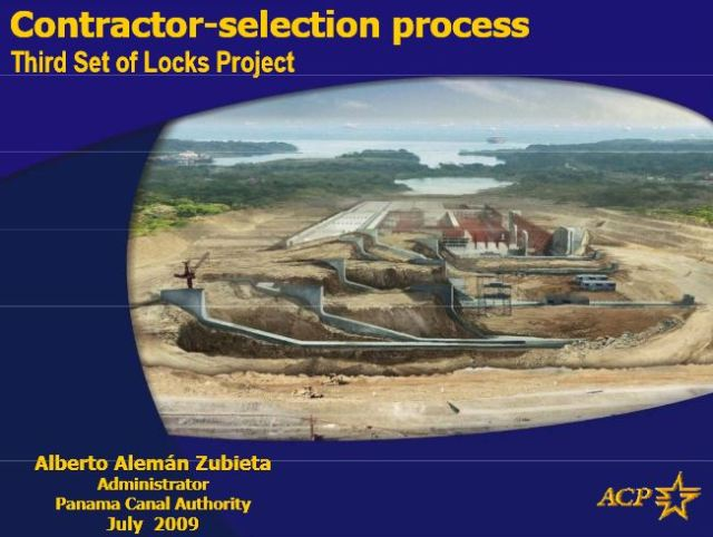 What nobody at the ACP or in Panama's rabiblanco media want to mention is that Alemán Zubieta's family owns one of the companies in the GUPC consortium that was awarded the locks design and construction contract on a flagrantly lowball bid. Graphic by the ACP.