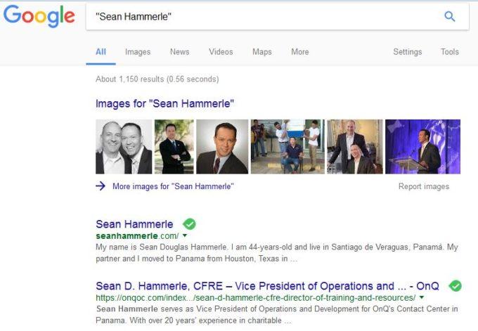 Sean on google