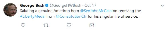 Bush Sr. tweet