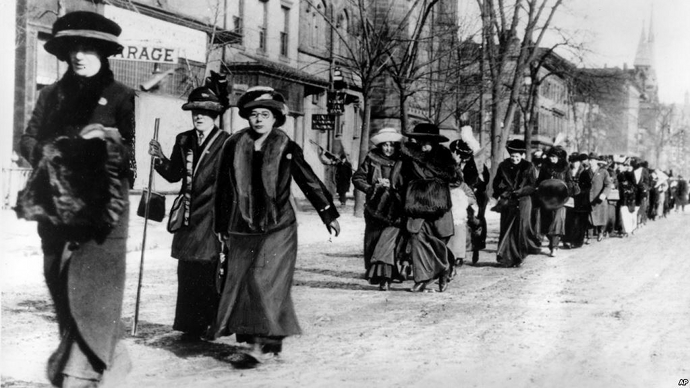 suffrage march