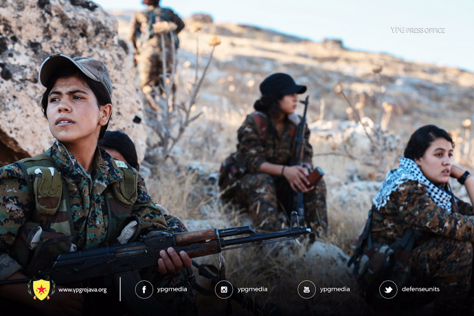 YPG women in arms