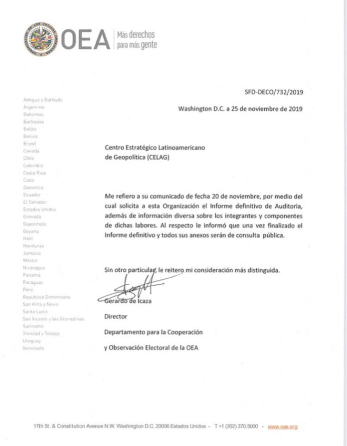 OAS letter