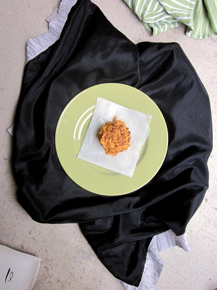 2-ingredient Sweet Potato Fritters