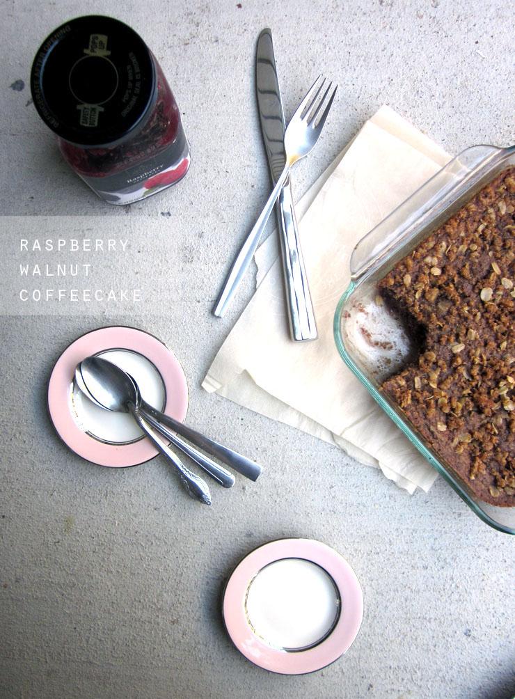 Raspberry Walnut Coffee Cake (vegan, GF)