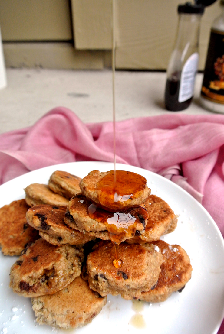 Whole Wheat Chocolate Chip Silver Dollar Pancakes