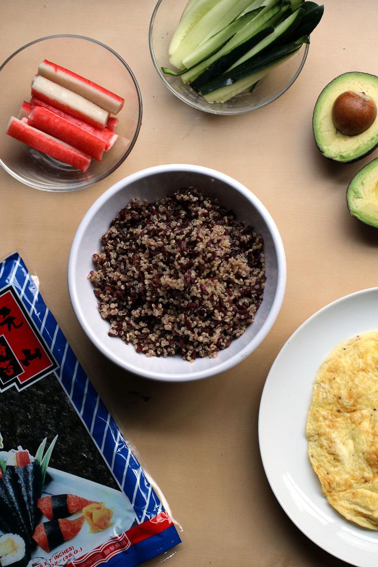 Quinoa Black Rice Sushi // The Pancake Princess