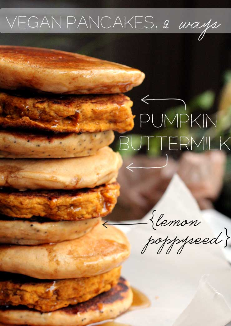 Vegan Pancakes, two ways // The Pancake Princess