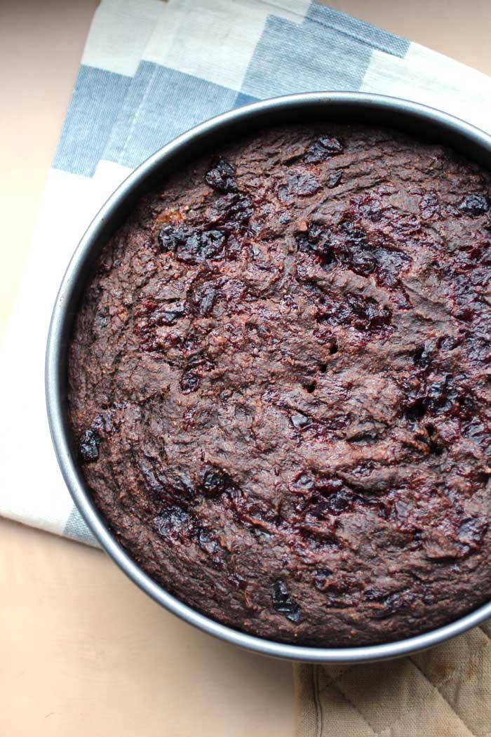 Leftover Cranberry Sauce Chocolate Breakfast Cake (vegan) // The Pancake Princess