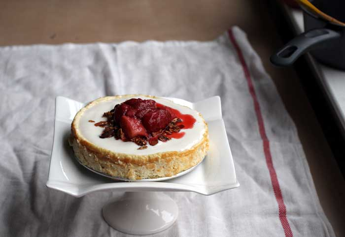 Healthy cheesecake: what a ho-hum name for something so fabulous. Sorry I didn't give it a flashier name.