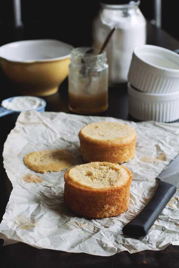 Buttermilk Cakes with Honey Caramel // The Pancake Princess