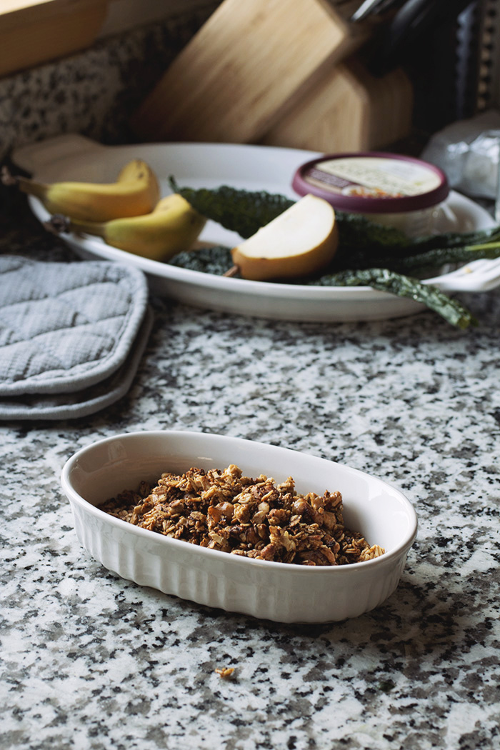 Baby beet & kale salad with chevre and walnut granola! // The Pancake Princess