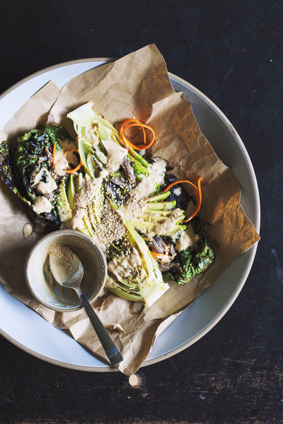 Charred Romaine Salad // The Pancake Princess