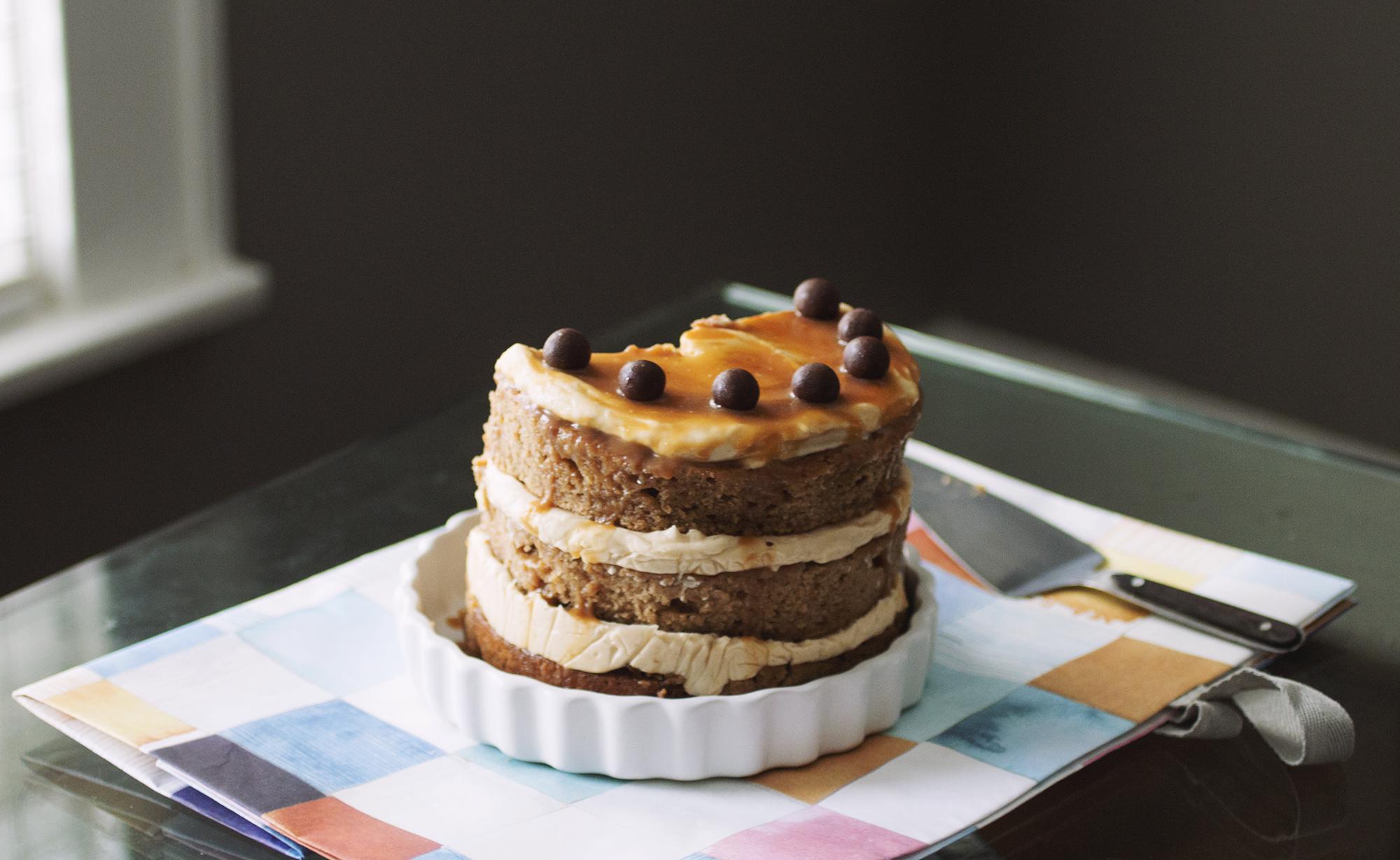 Caramel Apple Cake // The Pancake Princess