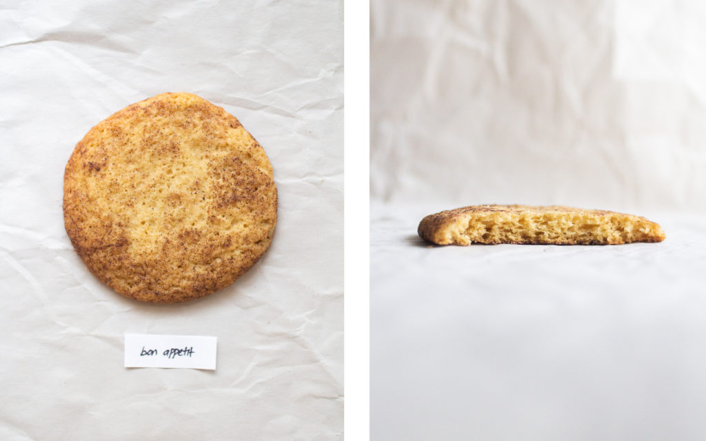 bon appetit snickerdoodle cookie