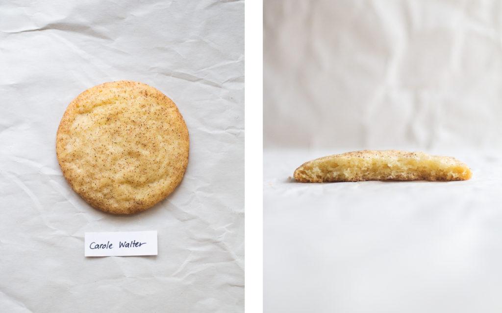 carole walter snickerdoodle cookie