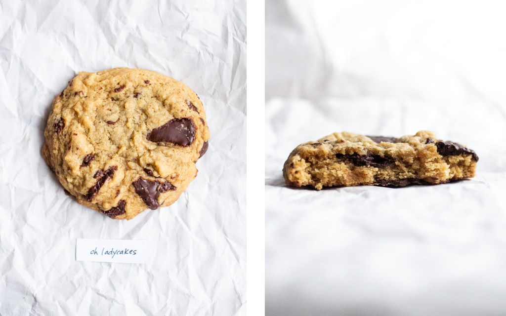 oh ladycakes vegan chocolate chip cookie