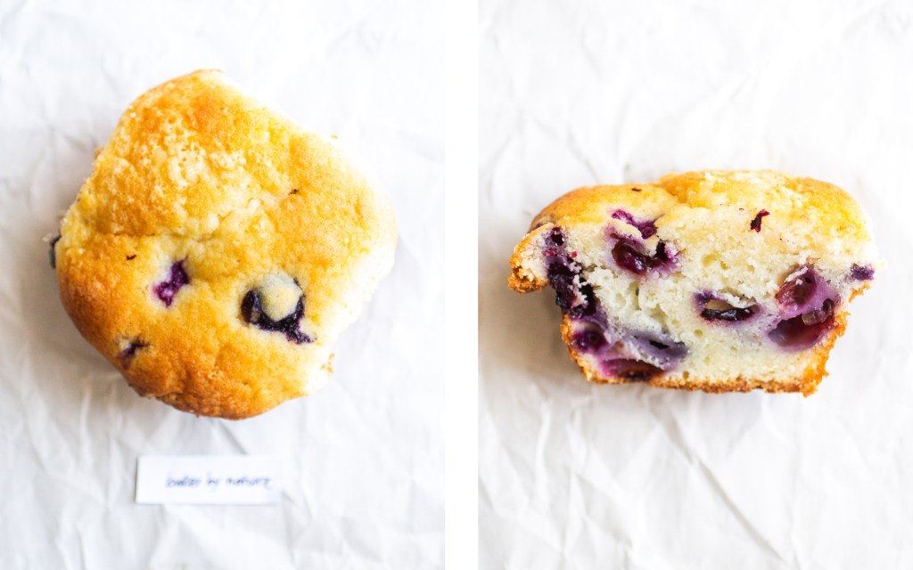 baker by nature blueberry muffin