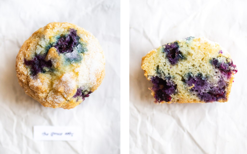the spruce eats blueberry muffin