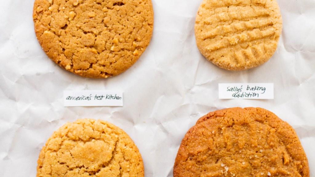 four peanut butter cookies