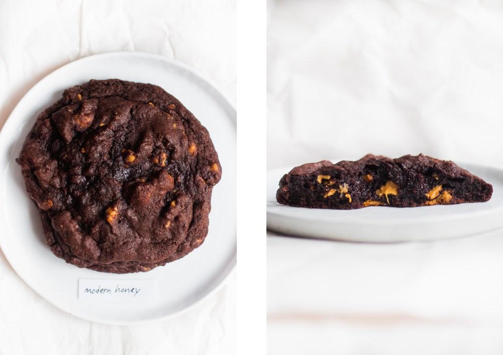 levain dark chocolate peanut butter cookie modern honey