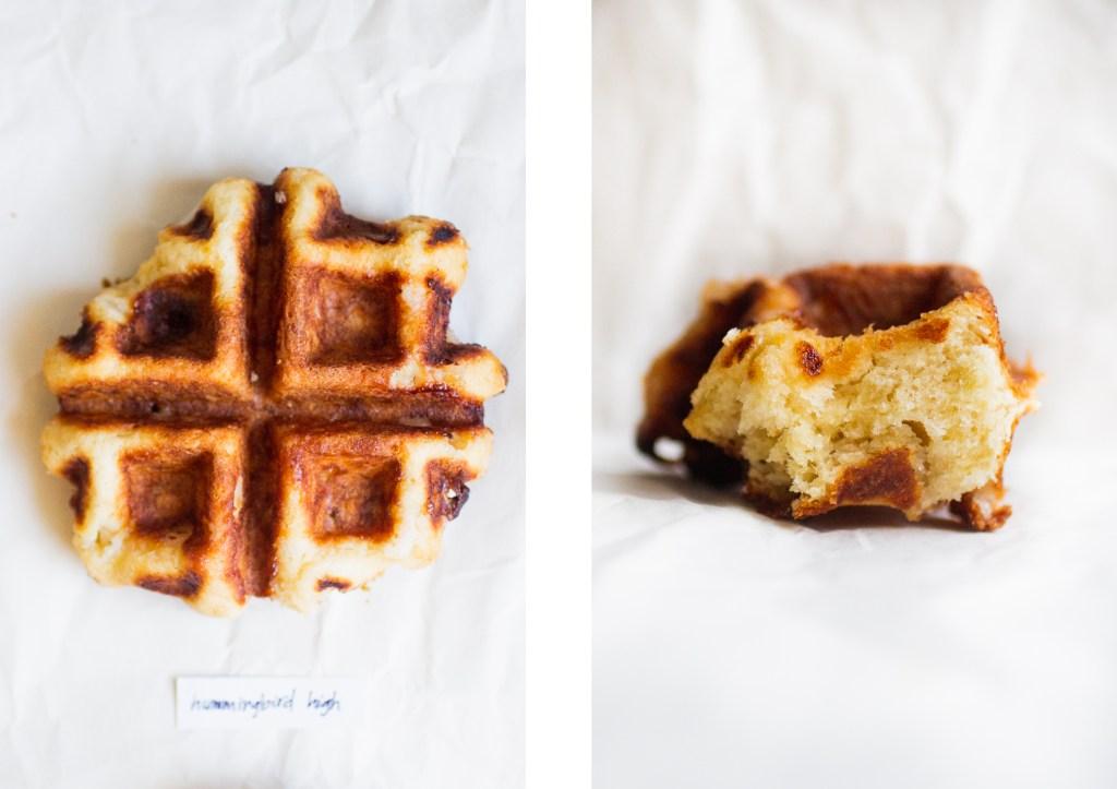 liege waffle next to a piece of a liege waffle
