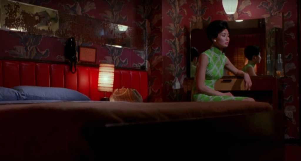 """Obsessed with """"In the Mood for Love""""? The lime green diamond qipao (cheongsam) from the complete list of 20 qipaos from the film. Click the link for more -"""