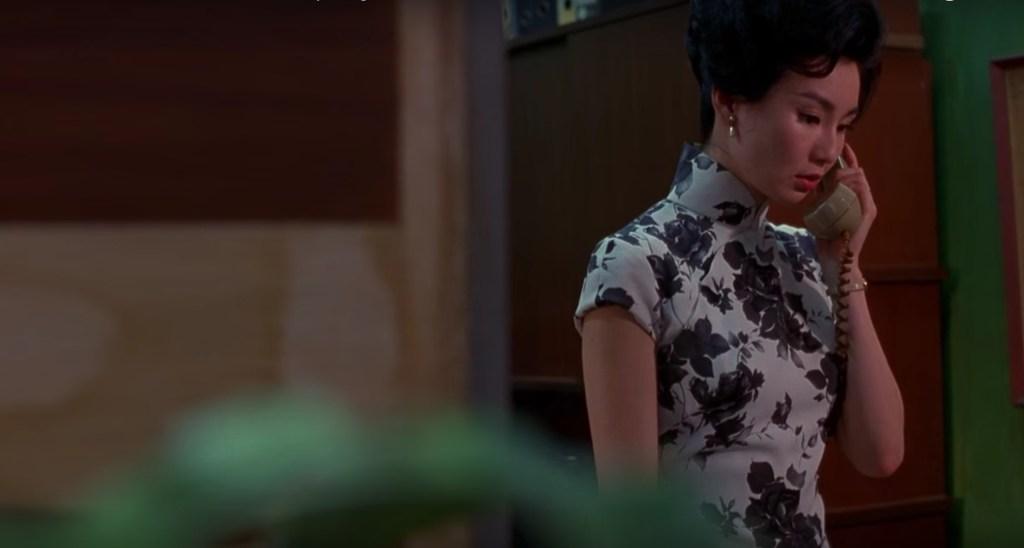 """Obsessed with """"In the Mood for Love""""? The black and white floral qipao (cheongsam) from the complete list of 20 qipaos from the film. Click the link for more -"""