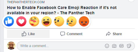 How to Enable Facebook Care Emoji Reaction.