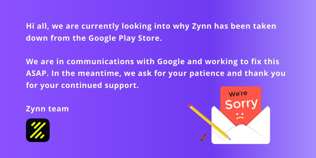 Google removed Zynn from Play Store. How to download it now?