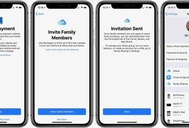 How to use the Apple Family Sharing feature?
