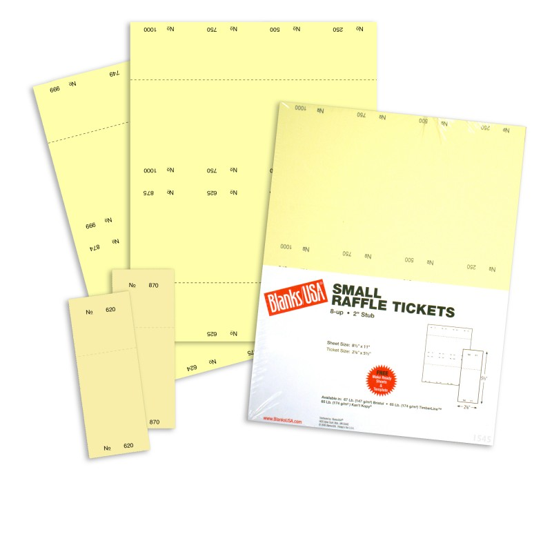 perforated ticket paper stock