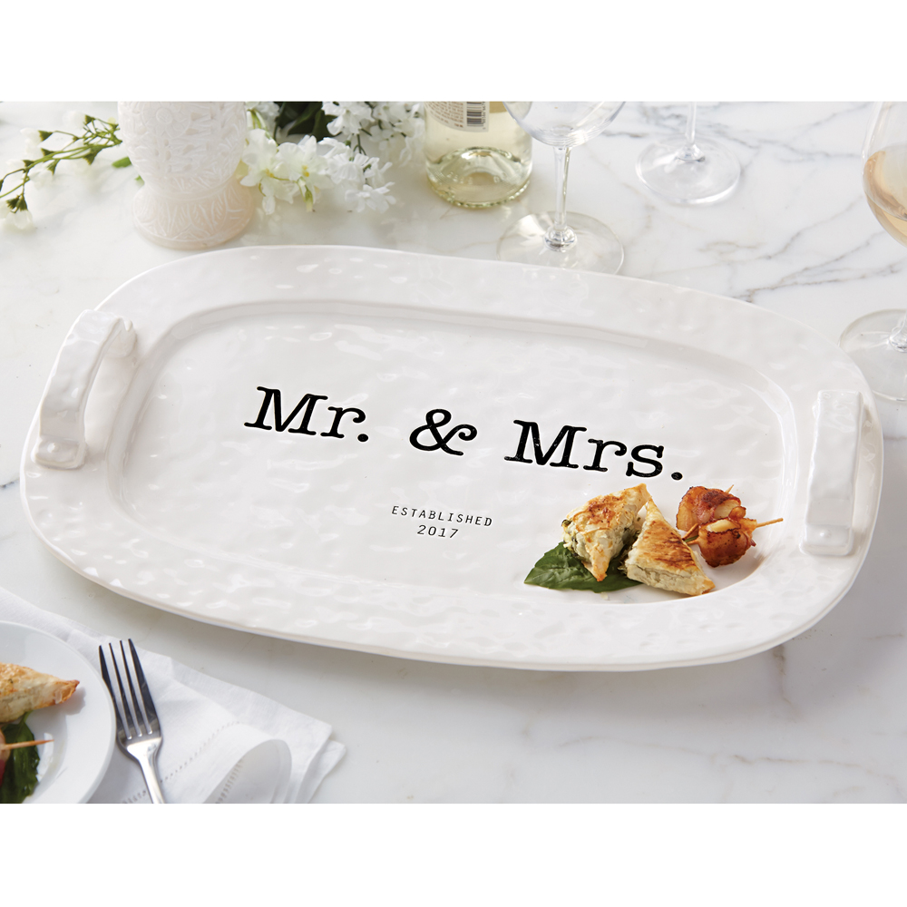 Mud Pie Mr And Mrs Established 2017 Hostess Platter