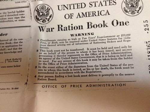 War Ration Book 1