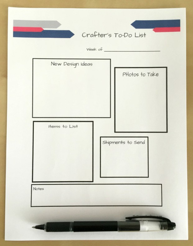 To do list for crafters creative shop