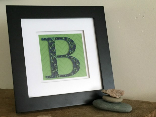 Custom Blue Green B Monogram