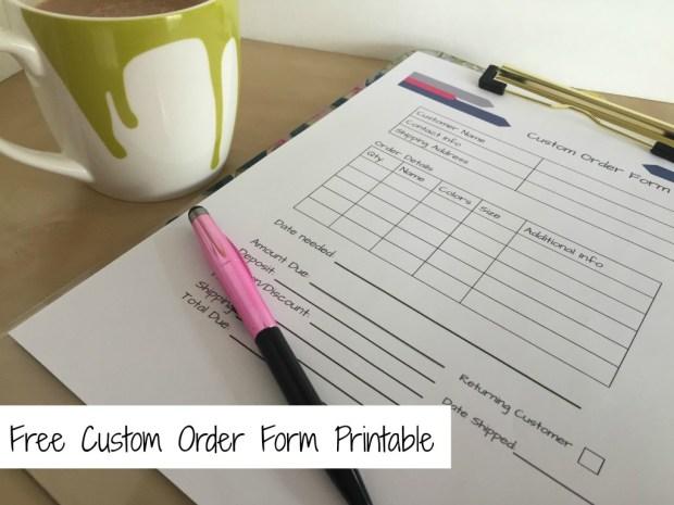 Custom Form Printable Free Printable PDF