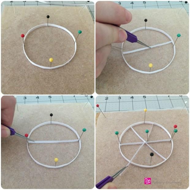 Quilling paper circle grapefruit fruit art