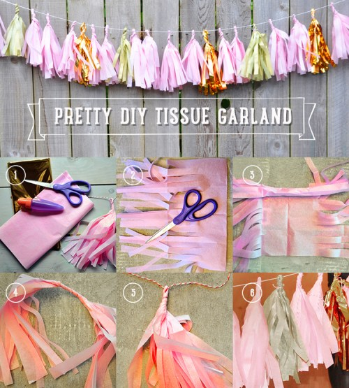 tissue+paper+garland+and+banner