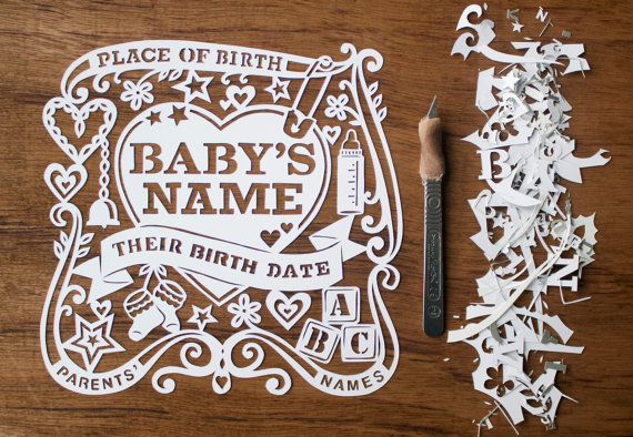 Custom Birth Announcement by Made by Julene