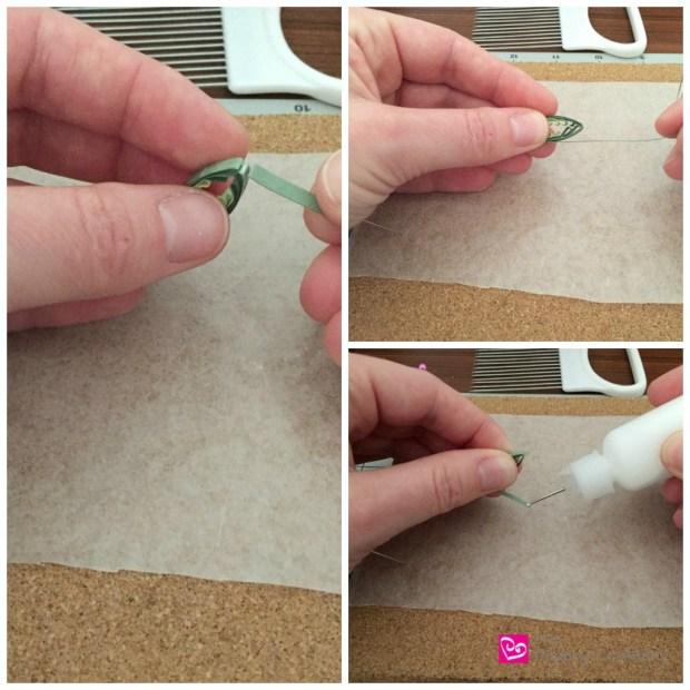 Green Quilling Paper Clover Leaf