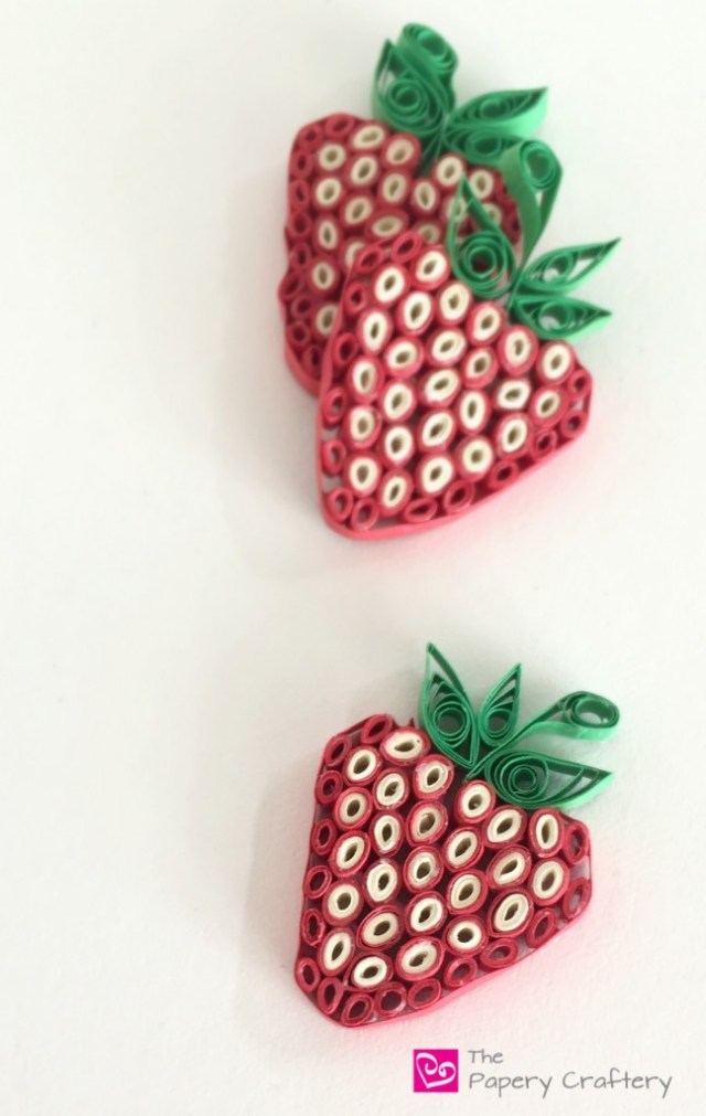 QuillingPaperStrawberries - HowToMakeQuillingPaperStrawberries