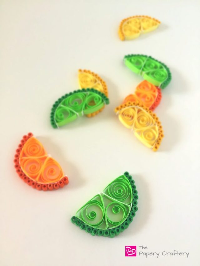 PaperLimeOrangeLemon How to Make Quilling Paper Citrus Slices