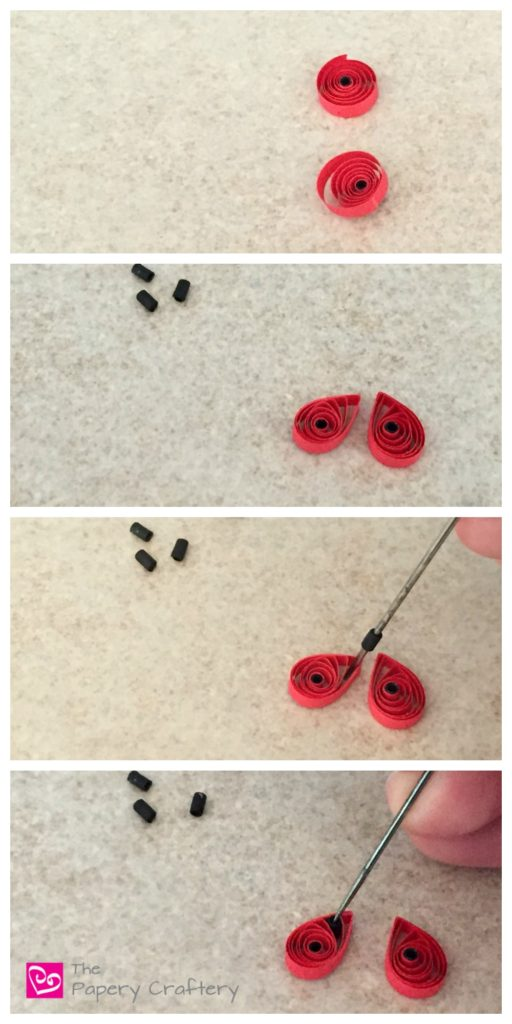 DIY paper ladybugs - Quilling Paper Ladybugs