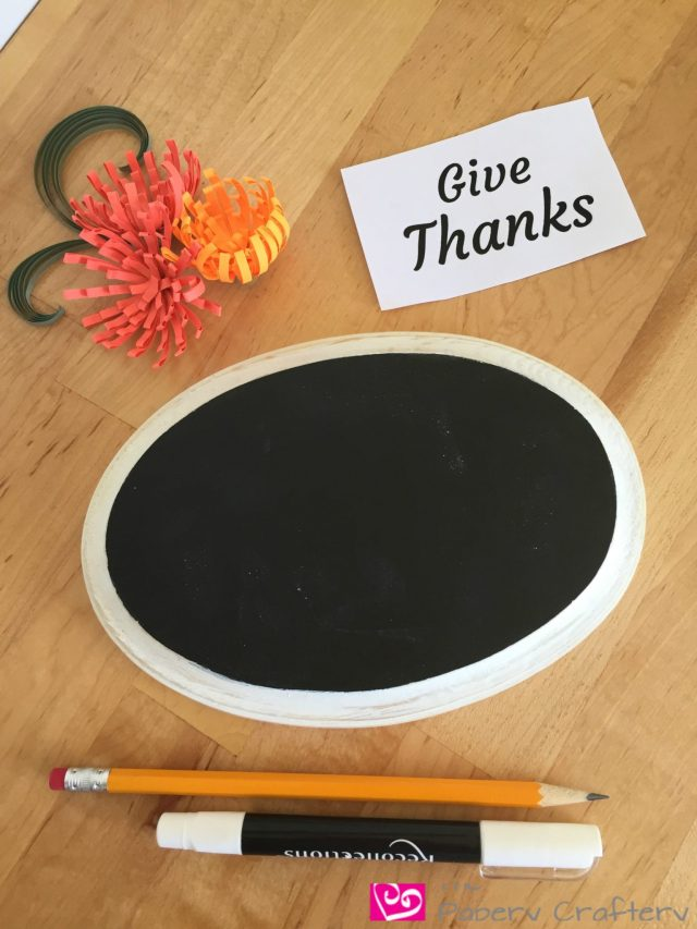 chalkboard-quilling-supplies Chalkboard Decor with Quilling Paper Art